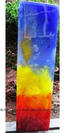 glas zuil in meerdere kleuren