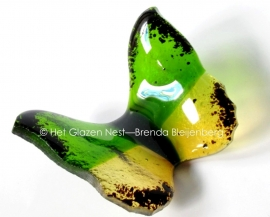 vlindertje in groen en geel