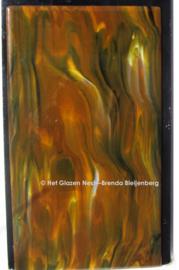 Kleurig bruin als letterplaat van glas