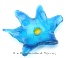 Kleine sterretje bloem in aqua blauw