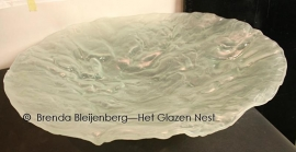 """Grote schaal in fusing glas """"blank met structuren"""""""