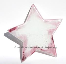 kleine roze en witte ster