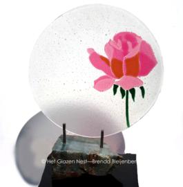 """sculptuur """"roze roos"""""""