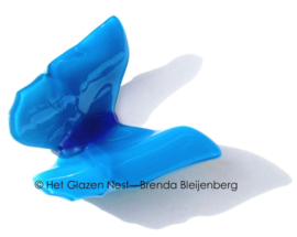 Grote vlinder in aqua kleur