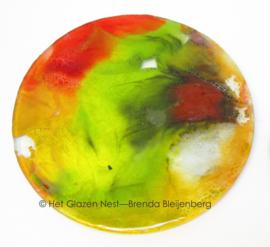 Glas cirkel in herfst kleuren
