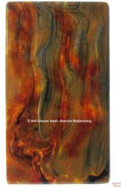 Glasplaat in kleurig bruin