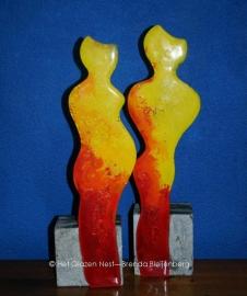 echtpaar in glas