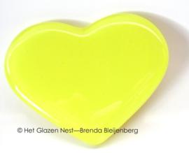 klein geel hartje in glasfusing