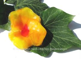 geel bloemetje met oranje hart