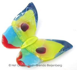 Kleurige glas vlinder