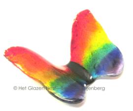 Regenboog vlinder in glaskunst