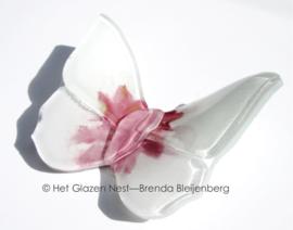 speels witte en roze vlinder
