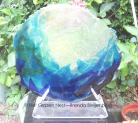 """sculptuur """"grillig blauw groen"""""""