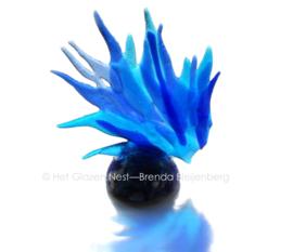 silhouet in grillige blauw als mini urn