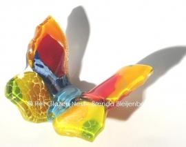 vlindertje in abstracte regenboog kleuren