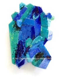 sculptuur blauw in rechthoekige vormen