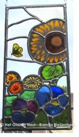 "Glas in lood raam ""Zomer in glas"""