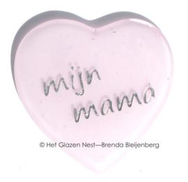 """Roze hartje met de tekst """"mijn mama"""""""