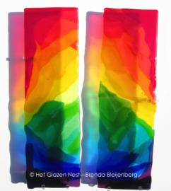 Wandobject in regenboog kleuren