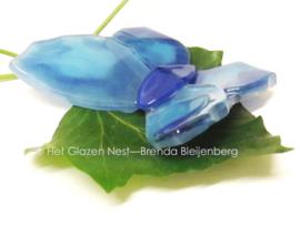 blauw vlindertje met kartel vleugels