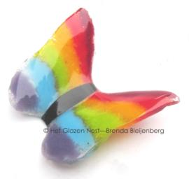 Regenboog als glaskunst vlinder