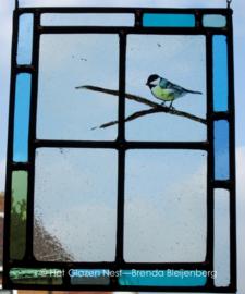 """Glas in lood raam """"Vinkje"""""""