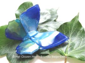 vlinder in blauw en groene kleuren