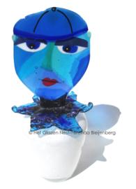 """Urn """"blauwe man"""""""