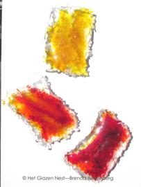 Grillige rechthoeken in oranje en greel