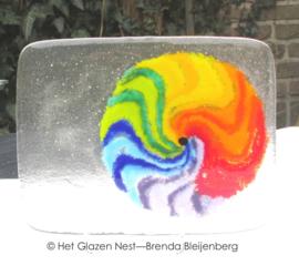 Cirkel in regenboog kleuren