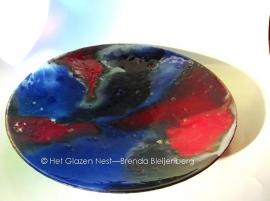 """fusing glas schaal """"vloeiende heide kleuren"""""""