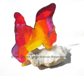 Abstract dier als glas sculptuur