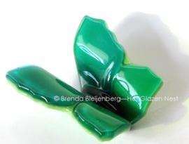 Groene vlinder, ondoorzichtig glas