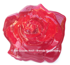 Rode roos als grafkunst