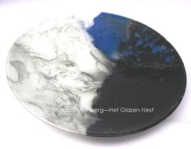 """fusing glas schaal """"zwart en wit"""""""