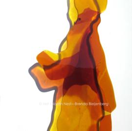 """glas sculptuur """"vrouwen silhouet"""""""
