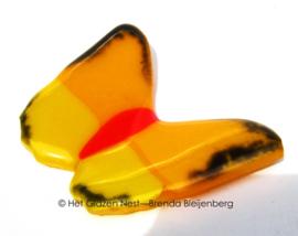 kleine vlinder in geel en oranje