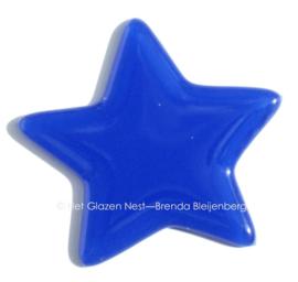 Blauwe ster van glas