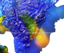 """wandobject """"kleuren in het water"""""""