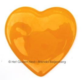 klein oranje hartje