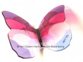 grote vlinder in zacht roze en lila