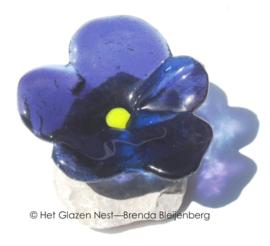 kleine paarse viool op steen