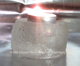 Waxinelichtje in rond casting glas