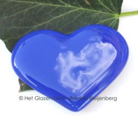 Klein kobalt blauw hartje van glas
