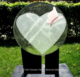 "Glas sculptuur ""Dansende vlinder"""