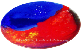 """fusing glas schaal """"kleur in contrast"""""""