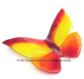 Rood en gele vlinder
