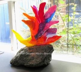 abstracte vogel als mini urn