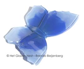 Vlinder in blauw en lavendel