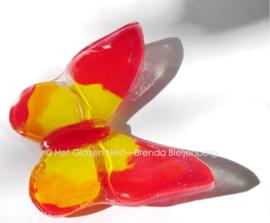 vlindertje in rood en geel